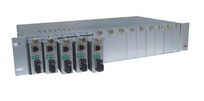 Card Slot Media Converter Chassis CCR-2U-16